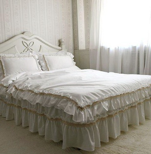 Off White Ruffle Bedding