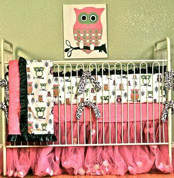 Owl Crib Bedding For Boys