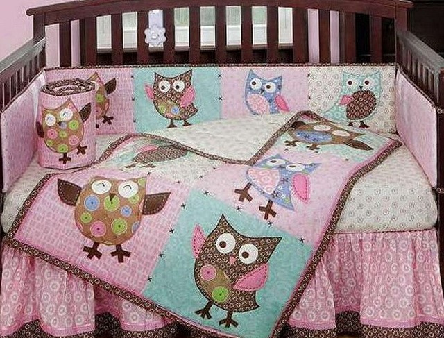 Owl Crib Bedding Set