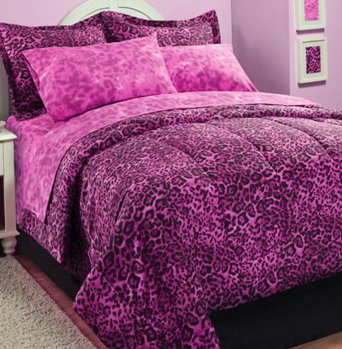 Pink Animal Print Bedding