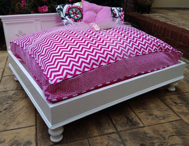 Pink Luxury Dog Beds