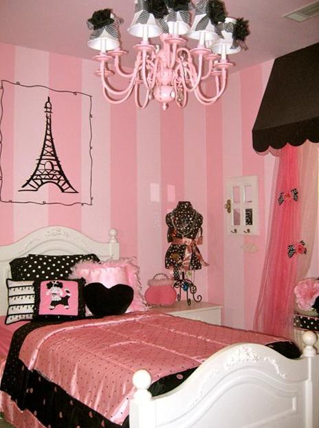 Pink Paris Themed Bedding