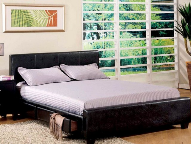 Platform Bed With Storage Underneath