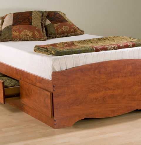 Platform Twin Bed With Drawers