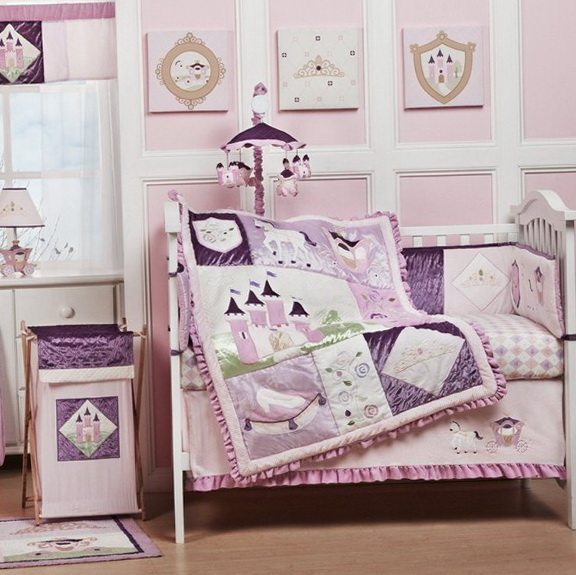 Purple Baby Girl Nursery Bedding