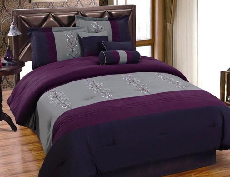 Purple Bed In A Bag Queen