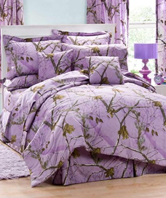 Purple Camo Bedding Sets