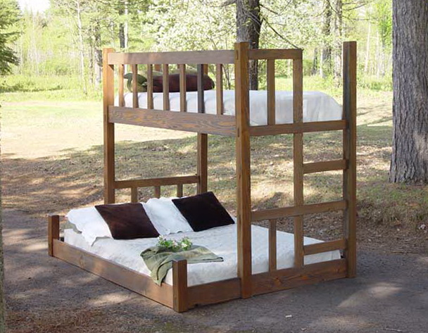 Queen Bunk Bed With Stairs