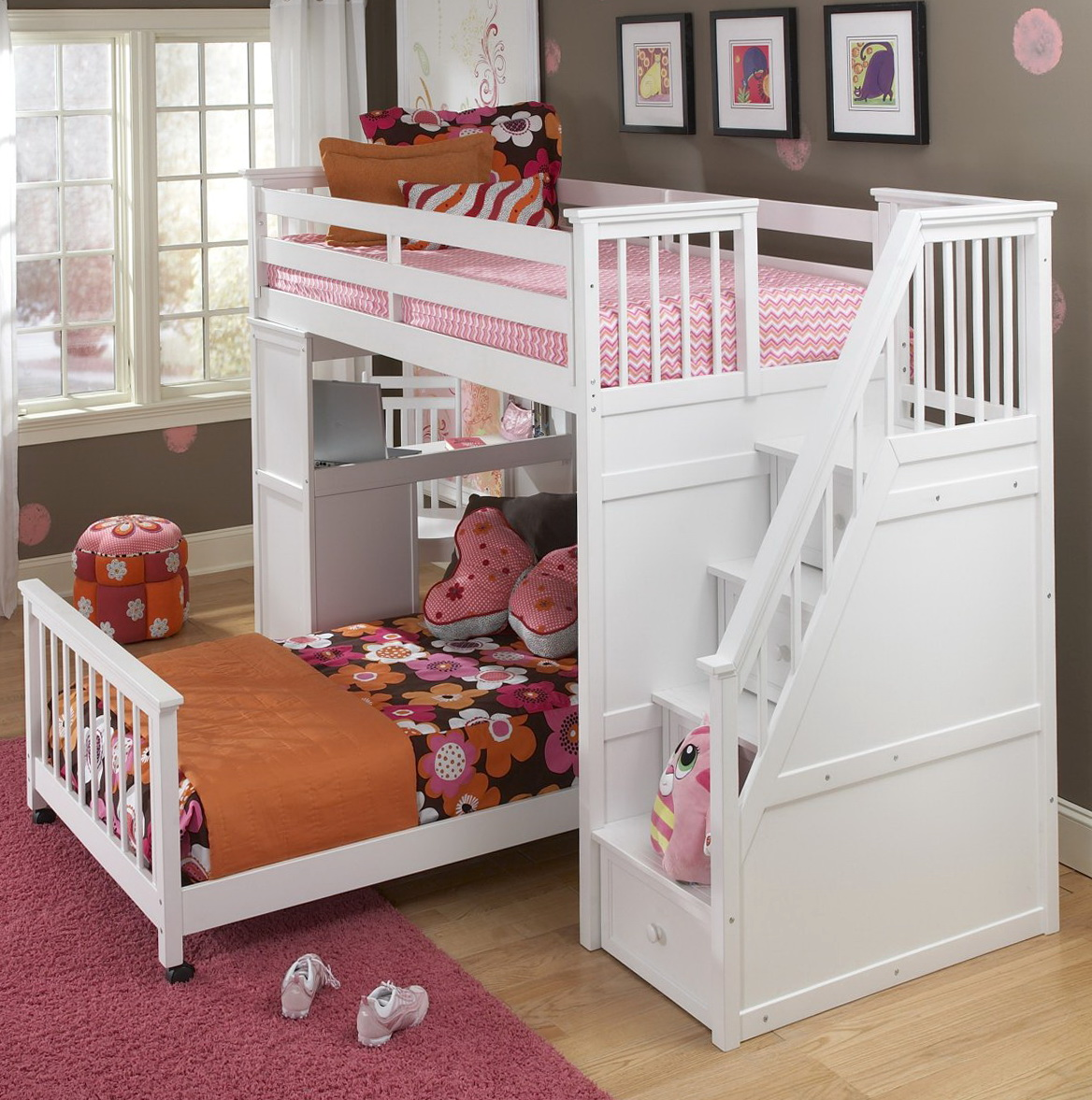 Queen Size Bunk Beds With Stairs