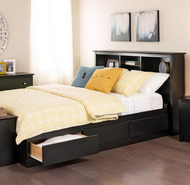 Queen Size Storage Bed Frame