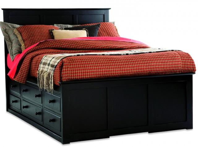 Queen Storage Bed Black
