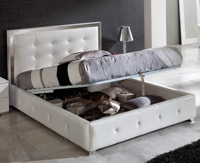 Queen Storage Bed White