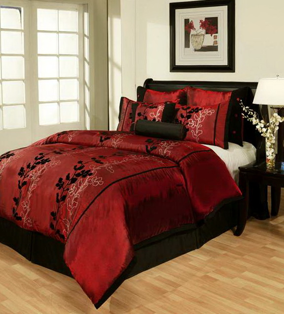 Red And Black King Size Bedding Sets