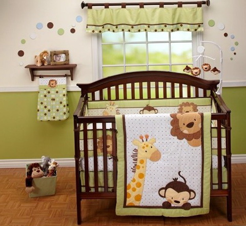Safari Baby Boy Crib Bedding Sets
