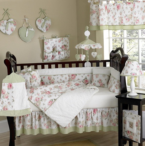 Shabby Chic Baby Bedding For Girls