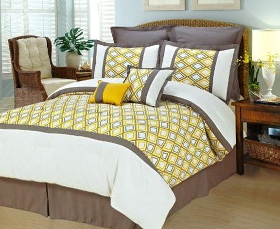 Teal Yellow And Grey Bedding