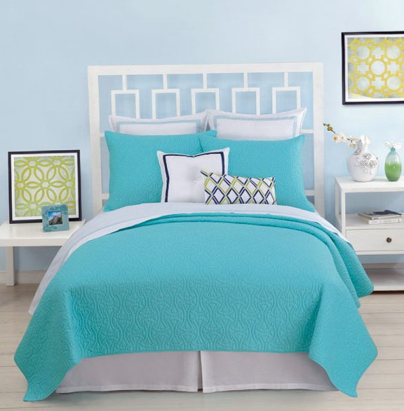 Trina Turk Bedding Blue Peacock