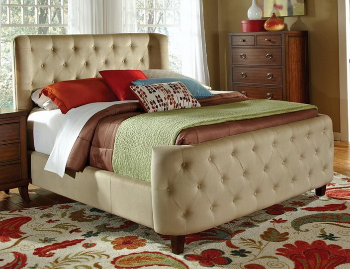 Tufted Cal King Bed Frame