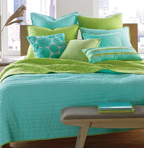 Turquoise And Lime Green Bedding