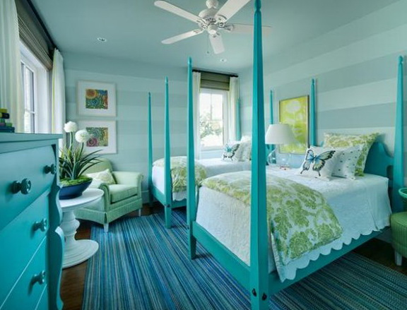 Turquoise Yellow And Grey Bedding
