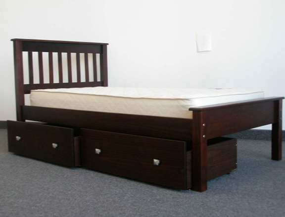 Twin Bed Frames With Drawers