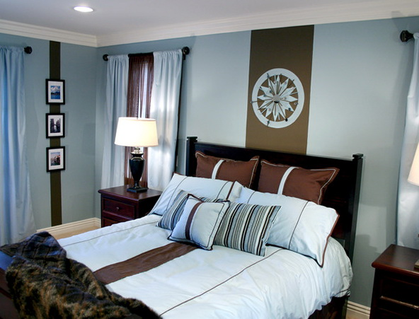 Wall Color For Blue And Brown Bedding