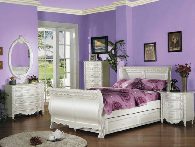 White Twin Bedroom Furniture Set