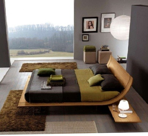 Wood Bed Frame Modern