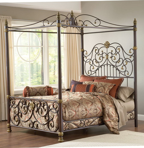 Wrought Iron Beds With Canopy