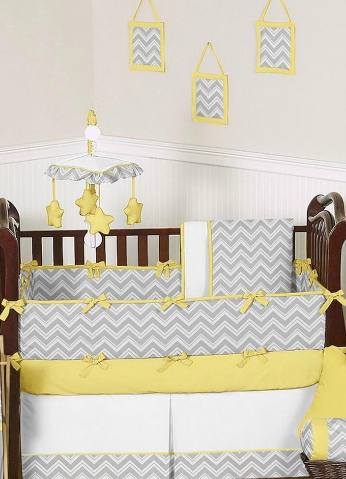 Yellow And Grey Bedding Nursery