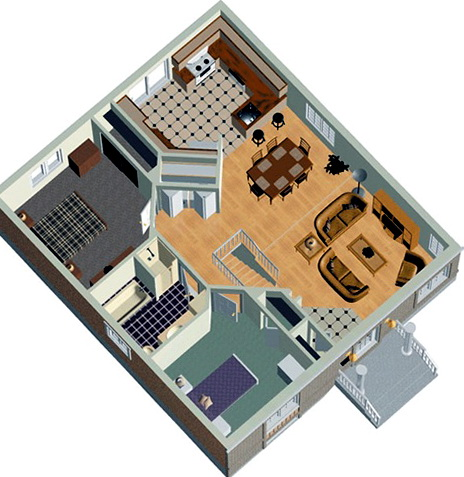 2 Bedroom House Plans In India
