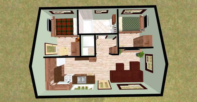 2 Bedroom House Plans In Kerala