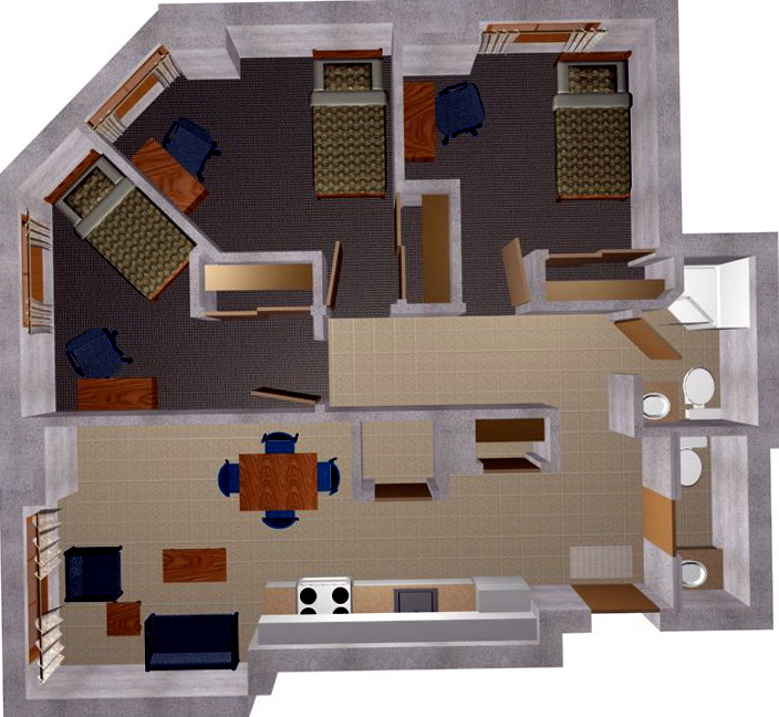 3 Bedroom Apartments Design Plans