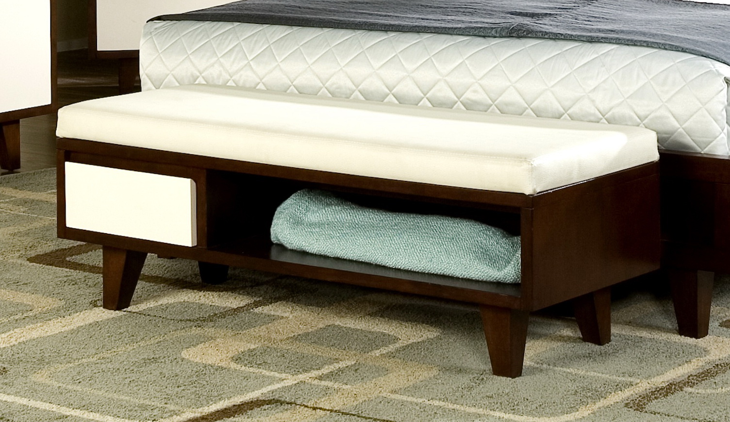Bedroom Storage Bench With Drawers
