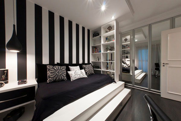 Black And White Bedroom Walls