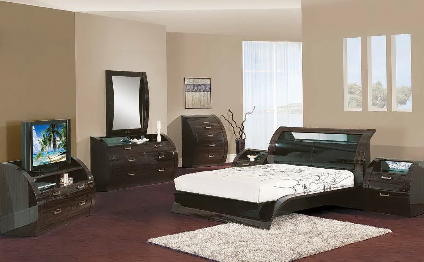 Contemporary King Size Bedroom Sets