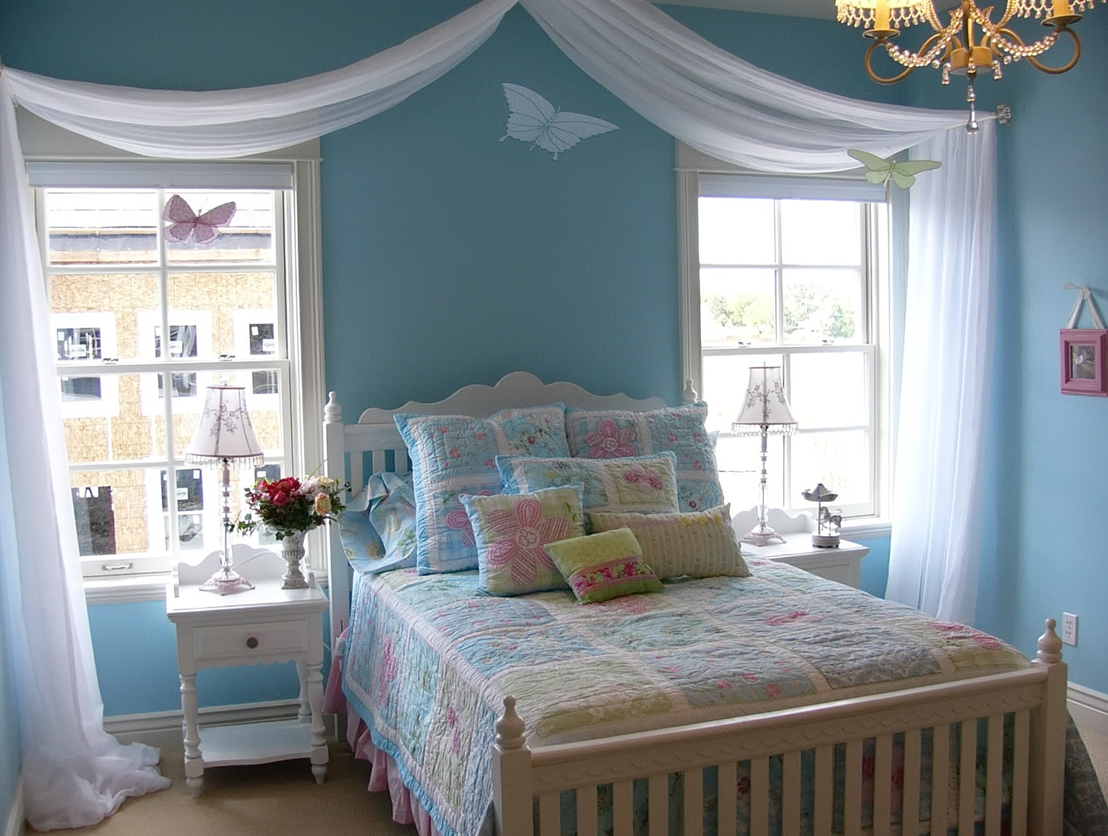 Girls Bedroom Decor Blue