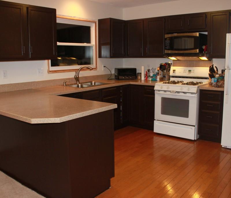 How To Paint Kitchen Cabinets Dark Brown