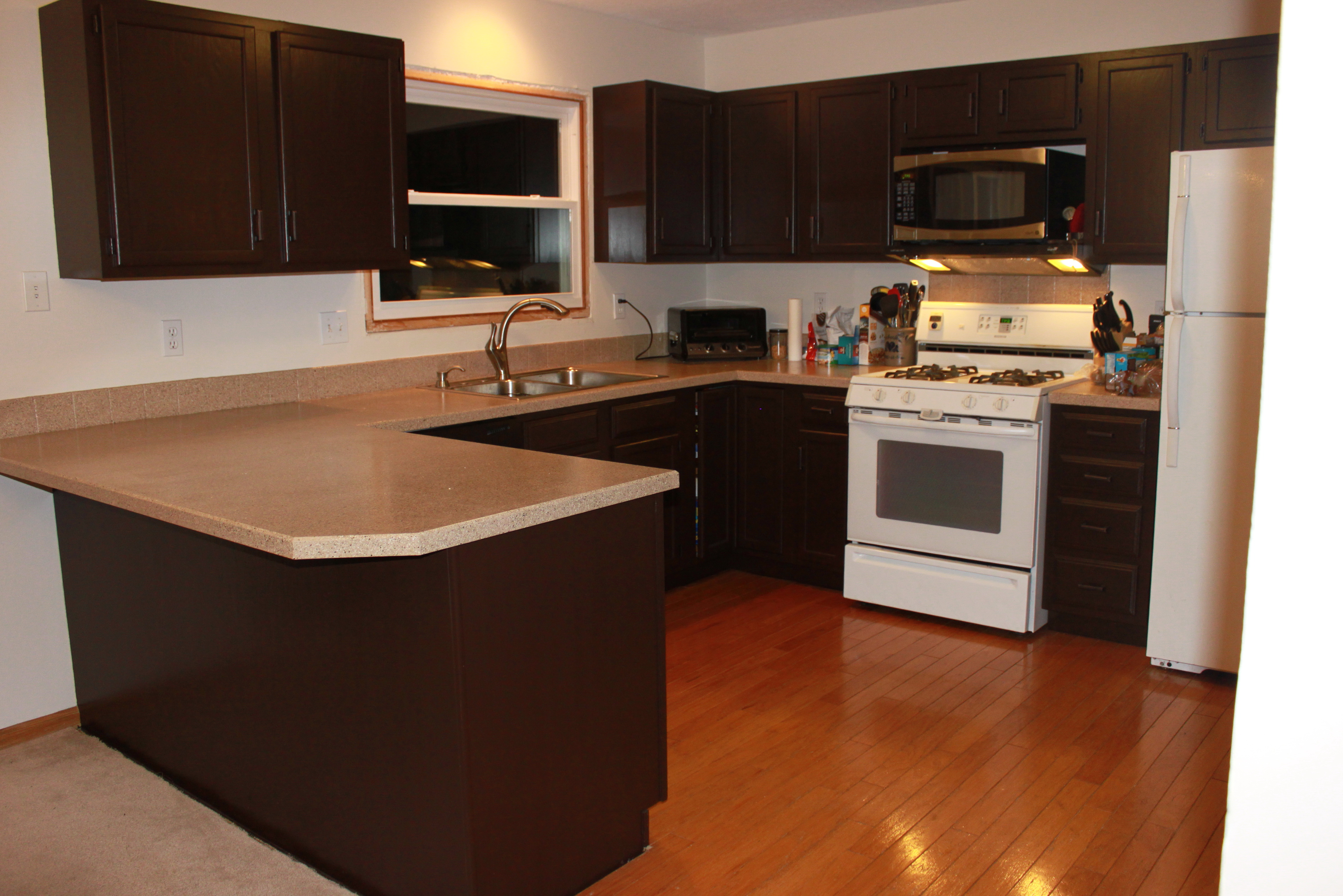 How To Paint Kitchen Cabinets Dark Brown