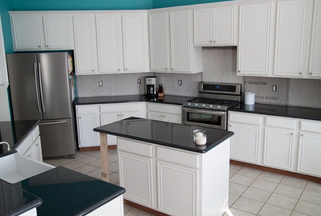 Kitchen Paint Colors With White Cabinets And Black Granite