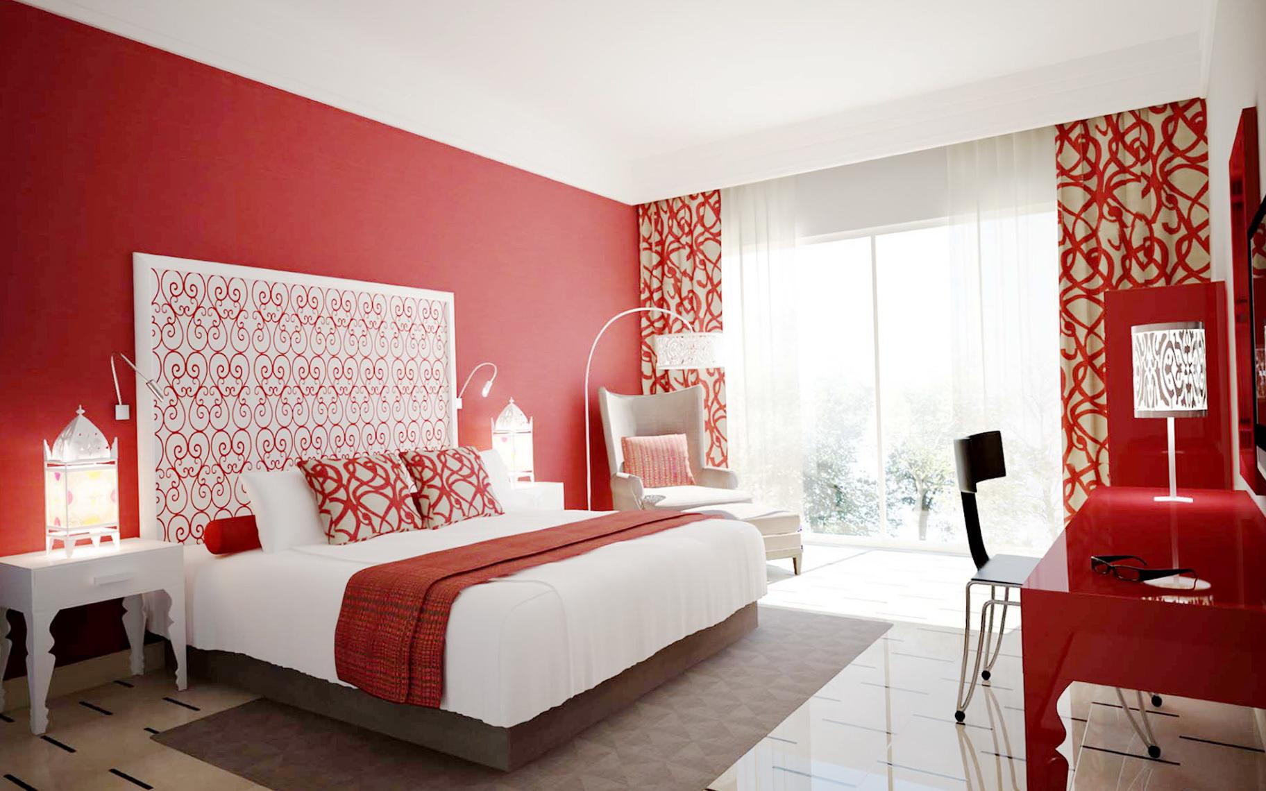 Mens Bedroom Ideas Red