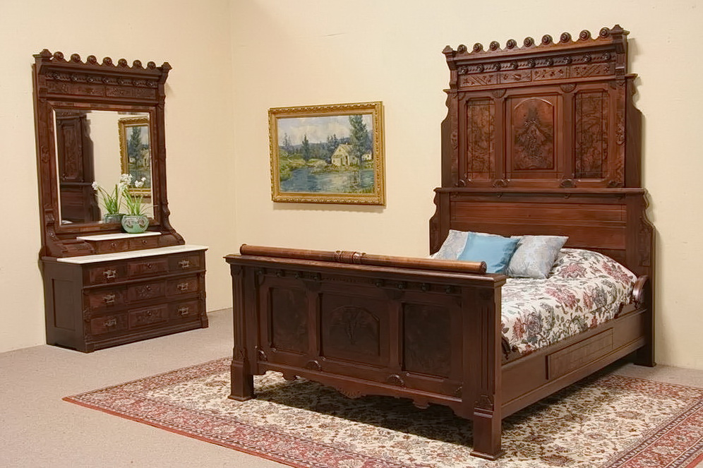 Queen Bedroom Set With Marble Top