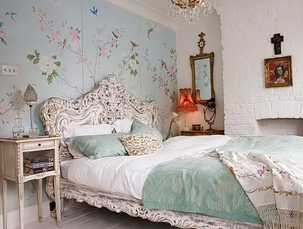 Shabby Chic Bedroom Wallpaper