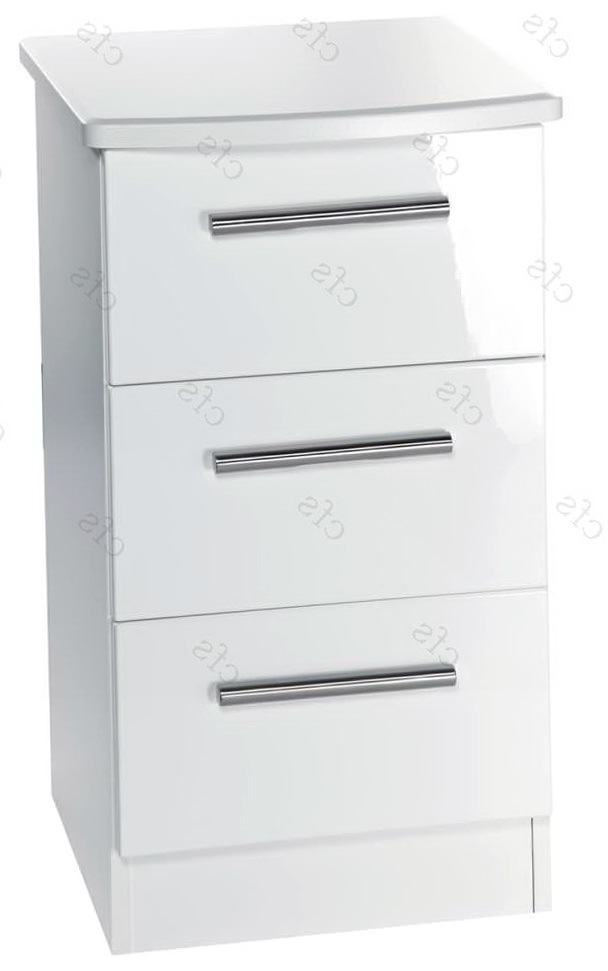 3 Drawer File Cabinet White
