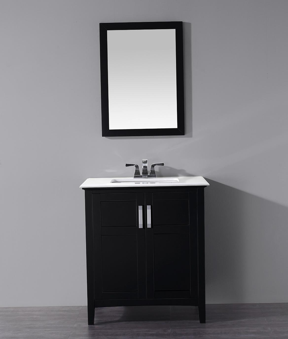 30 Inch Bathroom Vanity Black