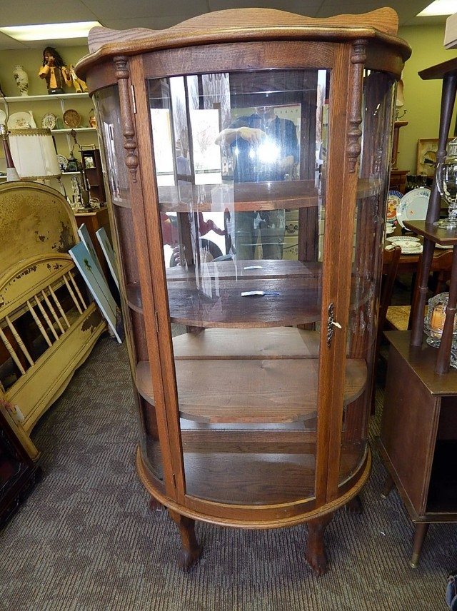 Antique Glass Curio Cabinets