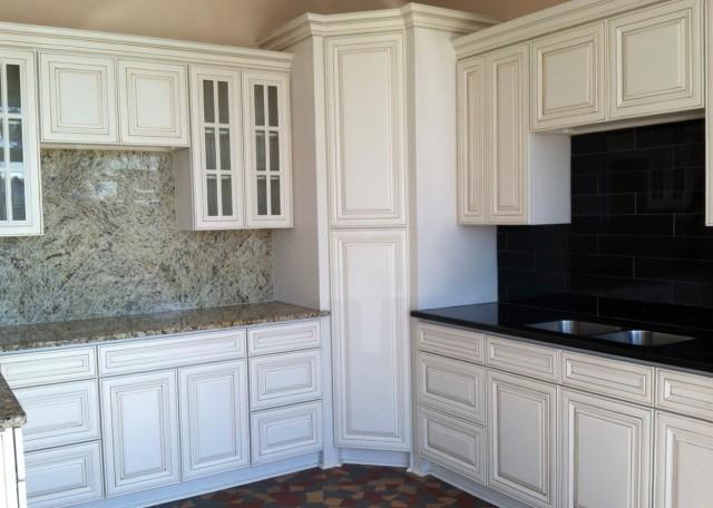 Antique White Cabinets Diy