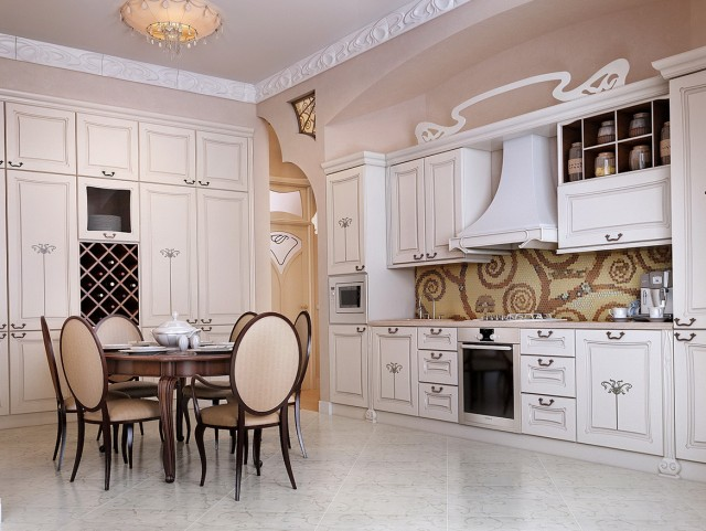 Antique White Cabinets Kitchen