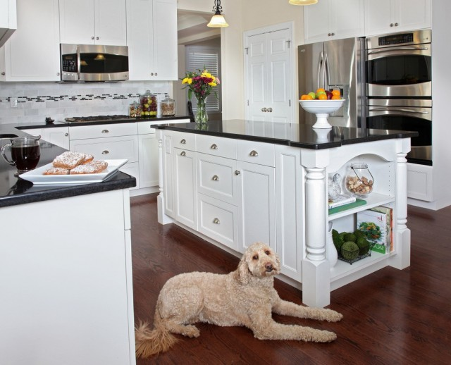 Antique White Cabinets With Black Granite
