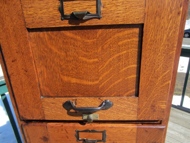 Antique Wooden File Cabinets